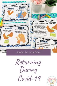 Returning to school this fall will not be the same. Teachers need resources to teach about new rules and expectations about how to stay safe- wearing masks, washing hands correctly, and how to social distance. This resource has everything you need- posters, a relevant social story, printables, interactive lessons- to effectively teach about new safety procedures and expectations when returning to school during the fall of 2020. Teachers love this resource because all the work is done for…