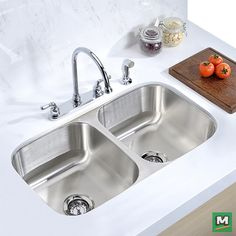 Clean Up Your Kitchen Quickly And Quietly With This X X Tuscany™  Double Bowl Kitchen Sink. Made Of Stainless Steel, This Heavy Duty Sink Is  Also Equipped ...