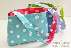 Toddler purse - Easy reversible bag tutorial - makeit-loveit.com