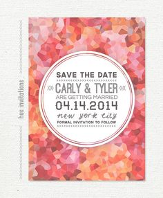 save the date wedding invitation card custom by hueinvitations, $20.00