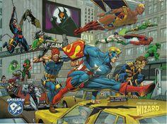 Wizard Magazines Amalgam Comics poster.
