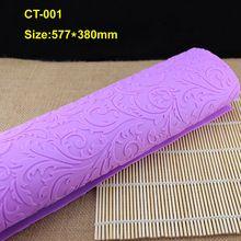 1 Stks (CT-001) Blad vormen Zachte Paars Zachte 100% Platinum Siliconen Cake Fondant Embossing Kauwgom Plakken Decorating Mold Tool(China (Mainland))