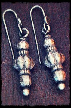 Indian Tribal Silver Earrings by COSMIC NORBU
