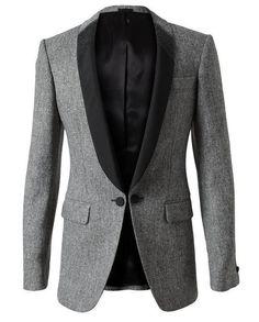 Fancy - Alexander Mcqueen Wool and Silk Smoking Jacket in Gray for Men (grey)