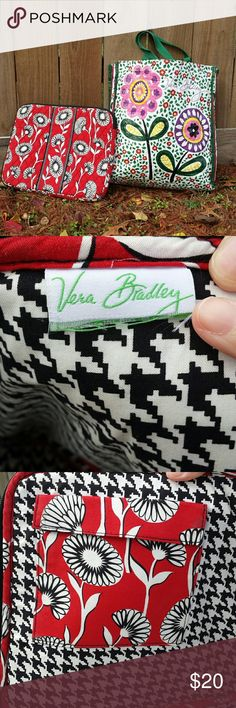"""Bundle of Vera Bradley Laptop Sleeve & Bag This is a Vera Bradley Laptop sleeve that measures 14"""" long, and 11"""" tall. I took a picture of the tag that I cut because it had my daughters initials on it. It's in excellent condition and comes with a Vera Bradley reusable shopping bag that's in excellent condition too. Bags Laptop Bags"""