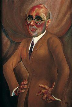 Otto Dix - Bildnis der Juwelier Karl Krall (1923)