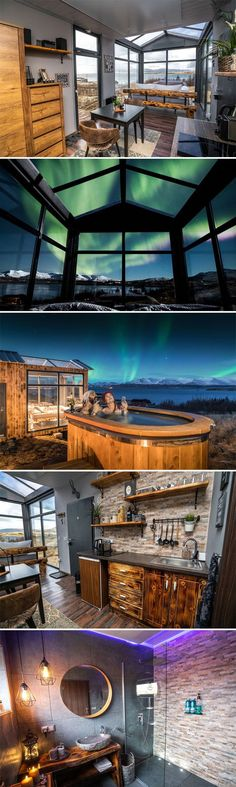 Located in Iceland, the Panorama Glass Lodge provides an incredible opportunity to watch the northern lights. The lodge is 30 minutes outside of Reykjavik.