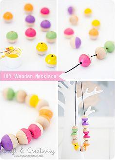 DIY Wooden Necklace by Craft & Creativity, via Flickr