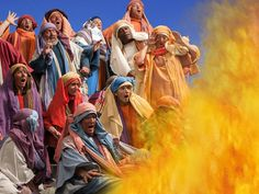 Elijah challenges 850 false prophets to a contest on Mount Carmel. (I Kings 18:1-40): Free Visuals