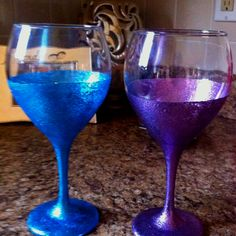 1000 images about wine glass painting on pinterest wine for Martha stewart christmas wine glasses