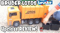 Toy Garbage Truck BRUDER LOTOS Up Close and REVIEW