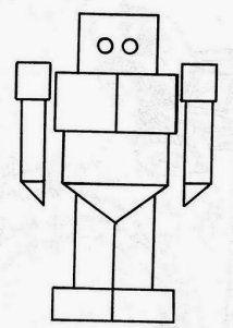 Robot Figuras Geometricas Para Ninos Dibujos De Figuras Geometricas Actividades De Figuras Geometricas