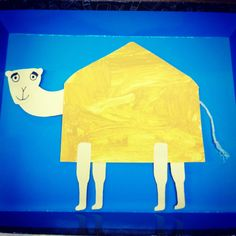Camel craft for desert week. Body is an envelope. Art. PreK.