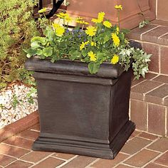 "Tuscan 18"" Square Planter  $99.99  Certainly I can find something like this at a consignment shop. Let the hunt begin!"