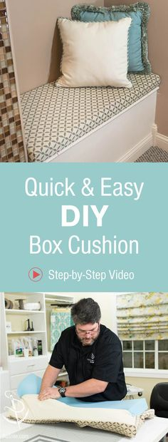 Great tutorial on how to make a cushion cover from Kim\'s Upholstery ...
