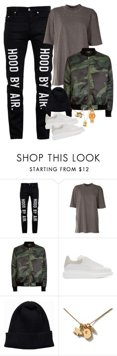 """""""I Wake Up Every Morning & Go Get It"""" by domothestylist ❤ liked on Polyvore featuring Hood by Air, adidas Originals, Marbek, Alexander McQueen, NLY Accessories, Rolex, men's fashion and menswear"""