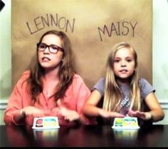 Lennon and Maisy sing Call your Girlfriend - Absolutely stunning cover, I cannot get over how talented these two little girls are! WATCH!