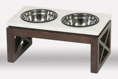 The simple clean lines of the Studio Table create an elegant dining experience. The base is made of pickled ash wood and is paired with a solid white granite top making it sure to blend with modern and classic home décor alike. Raised Dog Feeder, Elevated Dog Feeder, Raised Dog Bowls, Outdoor Dog Bed, Dog Table, Dog Bowl Stand, Dog Treat Jar, Studio Table, Diy Dog Bed
