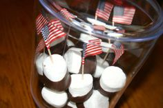 4th of July Candy Buffet Sweethearts  Co. Lapeer Michigan flags marshmallows chocolate