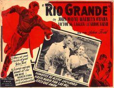 1950 - Río Grande - Rio Grande - Reparto John Wayne, Maureen O'Hara, Ben Johnson, Claude Jarman Jr., Harry Carey Jr., Chill Wills, J. Carrol Naish, Victor McLaglen, Ken Curtis, Patrick Wayne