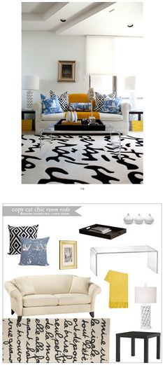 Copy Cat Chic Room Redo | Modern Geometric Living Room | Get the look for only $2,309
