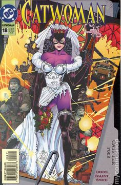 Catwoman - Here Comes The Bride (Issue) artist - Jim Balent Catwoman Cosplay, Batman Und Catwoman, Dc Cosplay, Gotham Batman, Comic Book Artists, Comic Books Art, Comic Art, Dragon Ball Z, Dc Comics