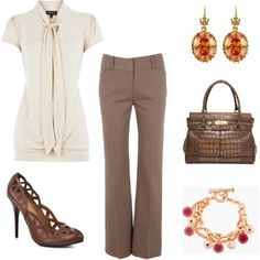 Great wear to work outfit, minus the shoes. I stand up all day on concrete floors.