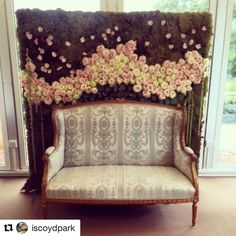#Repost @iscoydpark with @repostapp Iscoyd's Monday Inspo a flower wall photo booth beautifully created by @karenmorganflowers #flowerwall #photobooth #iscoydpark #wedding #flowers
