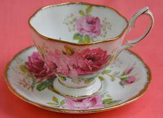 Vintage Tea Cup and Saucer Royal Albert  American Beauty $20.00