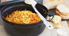 Lentils are a healthy and budget friendly alternative to meat bolognaise.