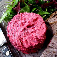 Tatarák z červené řepy – Snědeno.cz Steak, Cabbage, Foodies, Keto, Dinner, Vegetables, Scrappy Quilts, Recipes, Dining