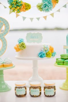 Baby Cakes! Inspiration For a Classic Baby Shower Cake: We're all about seeking out new trends when it comes to hosting a stylish baby shower, and over the past few years, cake pops and cupcakes have ruled the scene.