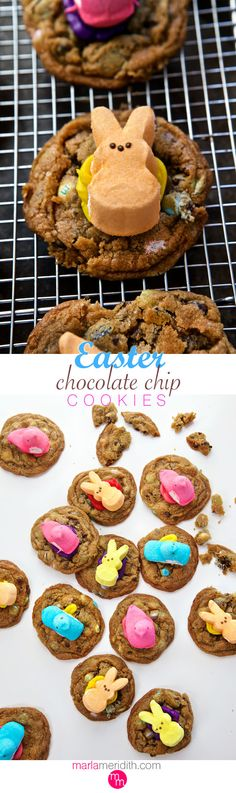 Easter Chocolate Chip Cookies | MarlaMeridith.com ( @MarlaMeridith )