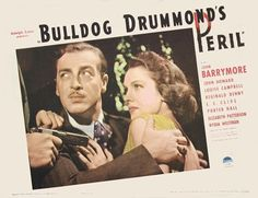 Louise Campbell and John Howard in Bulldog Drummond's Peril (1938)