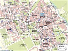 Marrakech - Plan Medina