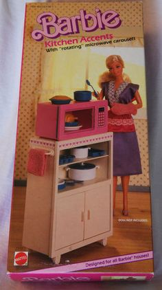 Adorable! RARE Mattel Barbie Kitchen Accents with Microwave | eBay