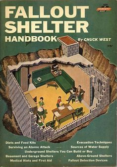 """So far, men have said they like this """"Fallout Shelter Handbook 1962"""" which I originally pinned for them elsewhere ... http://www.pinterest.com/pin/507710557964113430/ ."""