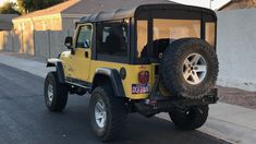 American Convoy ruggedized soft top pictures and configurations Yellow Jeep Wrangler, 2000 Jeep Wrangler, Jeep Wrangler Unlimited, Jeep Cj6, Jeep Pickup, Jeep Tops, Safari Jeep, Jeep Accessories, Expedition Vehicle