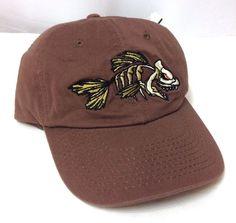 DEAD FISH SKELETON BONES HAT Brown Cotton Relaxed-Fit Men/Women Outdoor Cap NWT #OutdoorCap #BaseballCap