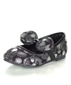 Take a look at this Black Puffy Ballet Flat by Jelly Beans on #zulily today! Hey she has to have shoes!!!!!