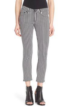 rag & bone/JEAN Capri Skinny Jeans (Bengal Stripe) available at #Nordstrom