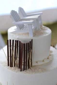 The Casual Gourmet Wedding Cake -    What else but a sand dune cake to accompany your seaside Cape Cod wedding?