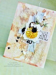 Just My Scrapping World.. : A Mixed Media card for 13arts!