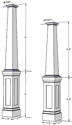 Tapered columns non tapered fiberglass columns exterior for Craftsman tapered columns