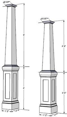 PVC column Wraps   Tapered Columns   Column Covers