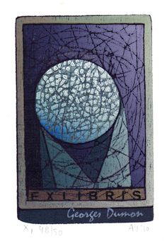 woodcut (several colours) made by Antje Veldstra