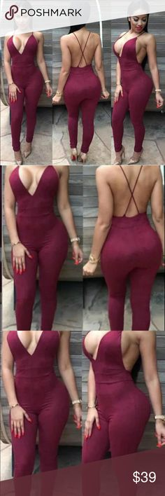 Suede bodysuit Stylish fall winter  trendy celebrity 2016 suede bodycon pantsuit romper bodysuit🍁 Host pick, top rated, suggested seller🍁 Material: cotton spandex suede🍁 Please refer to size chart for sizing; tag size is Med but will also fit a small 🍁 Same day shipping🍁 Offers considered but low balls will be declined🍁 Every body type is different don't compare your fit exactly to the model🍁 Will bundle for special discounts🍁 Pants Jumpsuits & Rompers