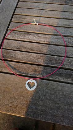 Hanger zilver hartje aan collier. van Atelier925 op DaWanda.com