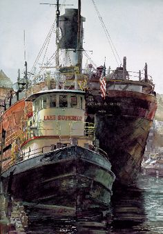 Lake Superior. Watercolour by John Salminen