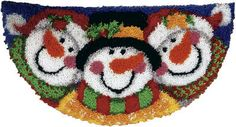This crochet Christmas kit is perfect for crocheters looking to dress up their floors. These adorable craft snowmen will be a cute addition to your handmade Christmas decorations. $19.97